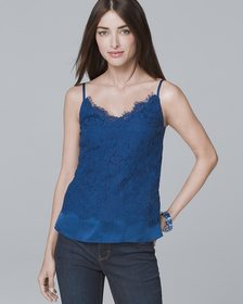 Lace-Overlay Cami