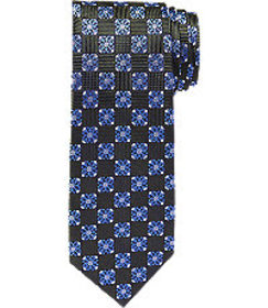 Jos Bank Reserve Collection Geometric Grid Tie CLE