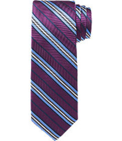 Jos Bank Traveler Collection Stripe Tie CLEARANCE
