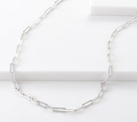 """Sterling Silver 24"""" Oval Link Chain Necklace by Si"""