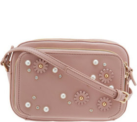 """""""As Is"""" Studio 33 Crossbody Camera Bag with Floral"""
