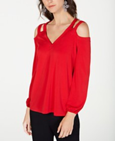 I.N.C. Cutout Cold-Shoulder Top, Created for Macy'