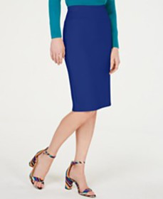 I.N.C. Solid Scuba Pencil Skirt, Created for Macy'