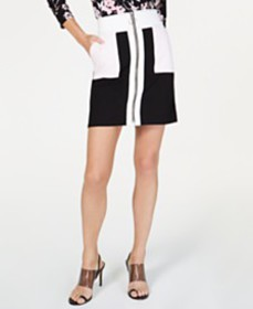 I.N.C. Colorblocked A-Line Mini Skirt, Created for