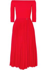 ALEXANDER MCQUEEN Off-the-shoulder ribbed jersey a
