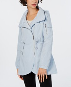 French Connection Asymmetrical Hooded Anorak