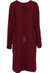 CHLOÉ Tasseled crepe de chine dress