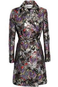 VALENTINO Double-breasted brocade trench coat