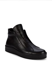 Karl Lagerfeld Laceless Leather Sneakers BLACK