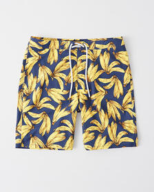 Classic Boardshorts, NAVY BLUE BANANA PATTERN