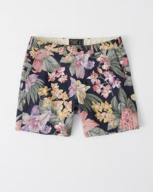 Plainfront Shorts, WHITE