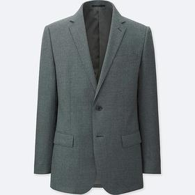 MEN STRETCH WOOL SLIM-FIT JACKET
