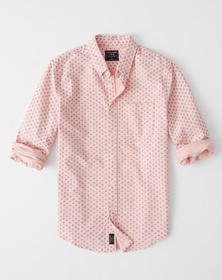 Oxford Shirt, LIGHT PINK PATTERN