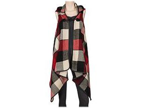 Quagga® Women's Buffalo Plaid Hooded Ruana