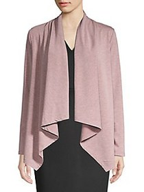 B Collection by Bobeau Amie Waterfall Cardigan FIG