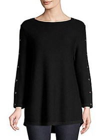 Joseph A Classic Roundneck Sweater BLACK