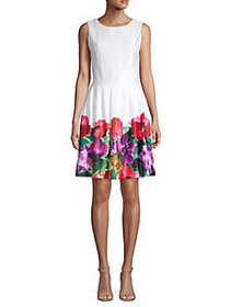 Calvin Klein Sleeveless Floral Fit-and-Flare Dress