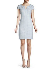 Karl Lagerfeld Paris Polytweed Shift Dress BLUE