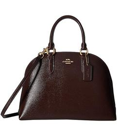 COACH Quinn Satchel in Crossgrain Patent Leather