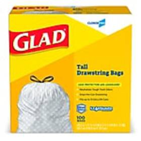 Glad Tall Kitchen Drawstring Trash Bags 13 Gallon,