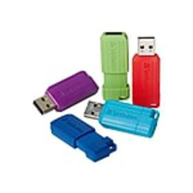 Verbatim PinStripe 8GB USB 2.0 Flash Drive, 5/Pack