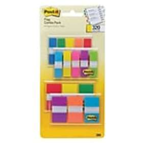 Post-it® Flags Combo Pack, .47 Wide and .94 Wide,