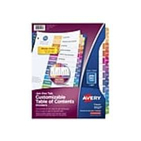 Avery Ready Index Monthly Paper Tab Dividers, 12-T