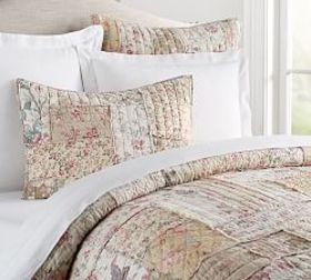 Pottery Barn Madelyn Reversible Floral Patchwork Q