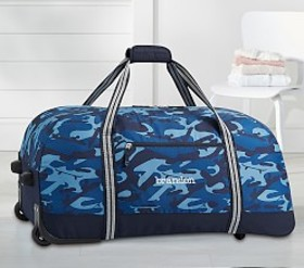 Pottery Barn Mackenzie Blue Skateboard Camo Medium