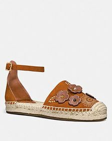 Coach ankle strap astor espadrille with tea rose r