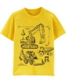 carters Baby Boy Construction Jersey Tee