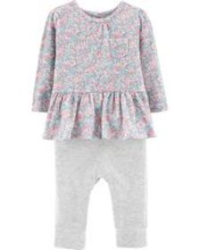 carters Baby Girl Floral Coverall