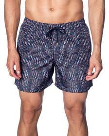 Jared Lang Men's Multicolor Dot-Print Swim Shorts