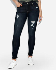 Express mid rise ripped jean leggings