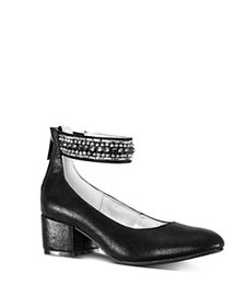Nina - Girls' Charleen Embellished Block Heel Shoe