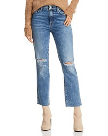 7 For All Mankind - Edie Distressed Straight Jeans