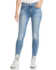7 For All Mankind - Ankle Skinny Jeans in Light Cl