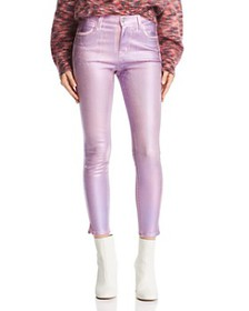 J Brand - Alana Coated Crop Skinny Jeans in Pink P
