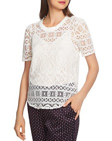 1.STATE - Short-Sleeve Lace Top