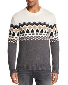 Theory - Verios Rueda Chunky Fair Isle Sweater