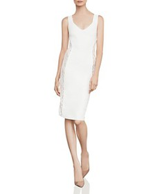 BCBGMAXAZRIA - Lace-Inset Sheath Dress