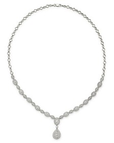 Bloomingdale's - Diamond Cluster Statement Necklac