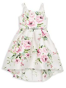 Zunie Girl's Floral Hi-Lo Dress PINK FLORAL
