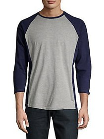 Black Brown 1826 Colorblock Raglan Tee GRAYSTONE