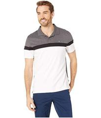 Calvin Klein Short Sleeve Color Blocked Button Pla