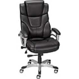 Staples Baird Bonded Leather Managers Chair, Black