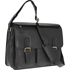 R & R Collections Genuine Leather Flap Messenger B