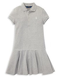 Ralph Lauren Childrenswear Girl's Drop-Waist Polo
