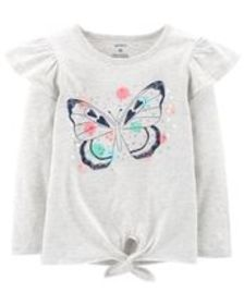 carters Toddler Girl Sequined Butterfly Tie Waist