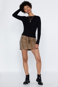 Nasty Gal Right Lace-Up Your Alley Sweater